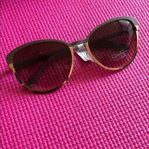 Jessica Simpson sunglasses gray and gold